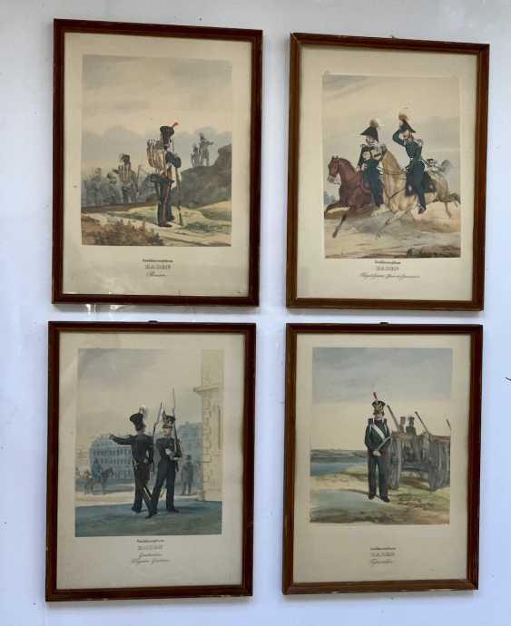 Großherzogtum Baden: Sammlung von 15 Uniform-Lithographien. - photo 2