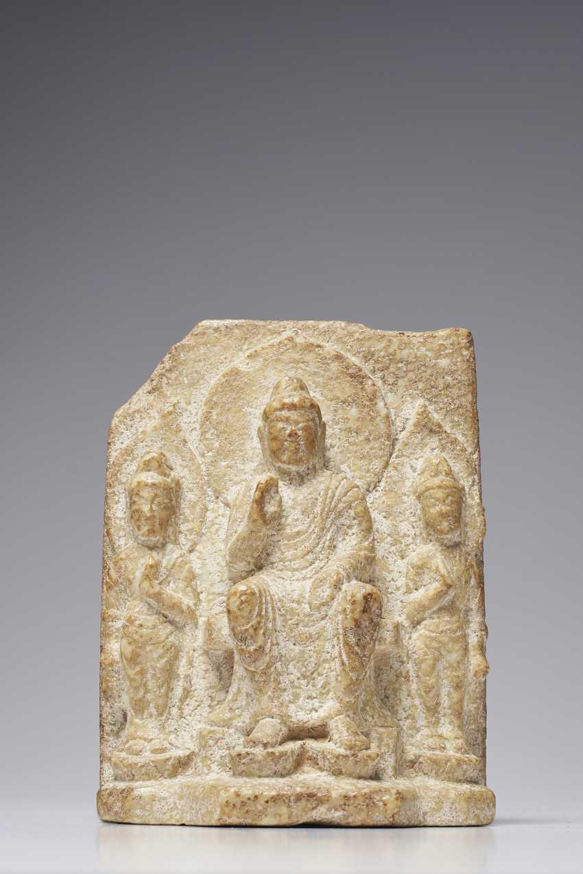 A STONE BUDDHIST STELE - photo 2