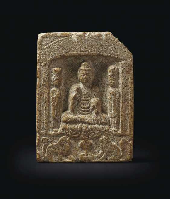 A STONE BUDDHIST STELE - photo 3
