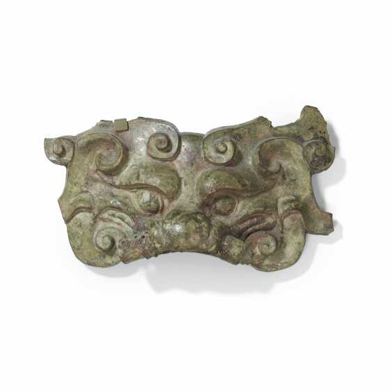 A BRONZE TAOTIE MASK-FORM FITTING - photo 1
