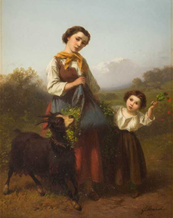 Young shepherdess with child - photo 1