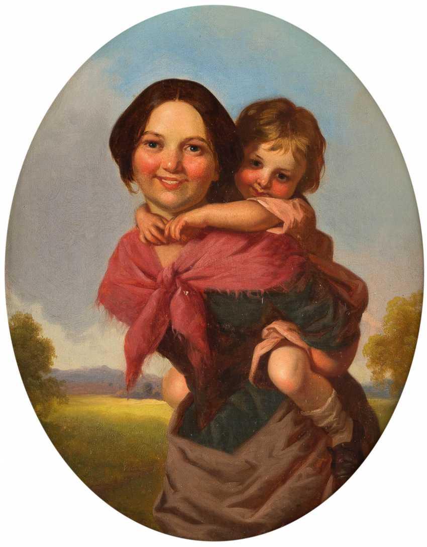 Young Irish woman with child - photo 1