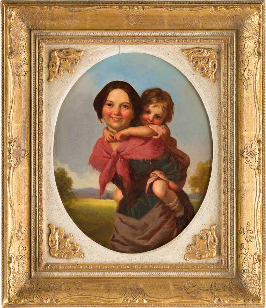 Young Irish woman with child - photo 2