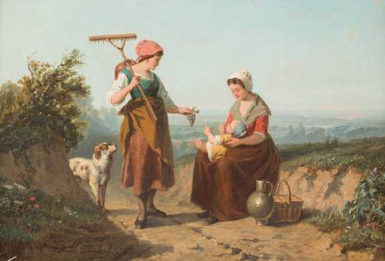 Italian peasant women by the wayside - photo 1