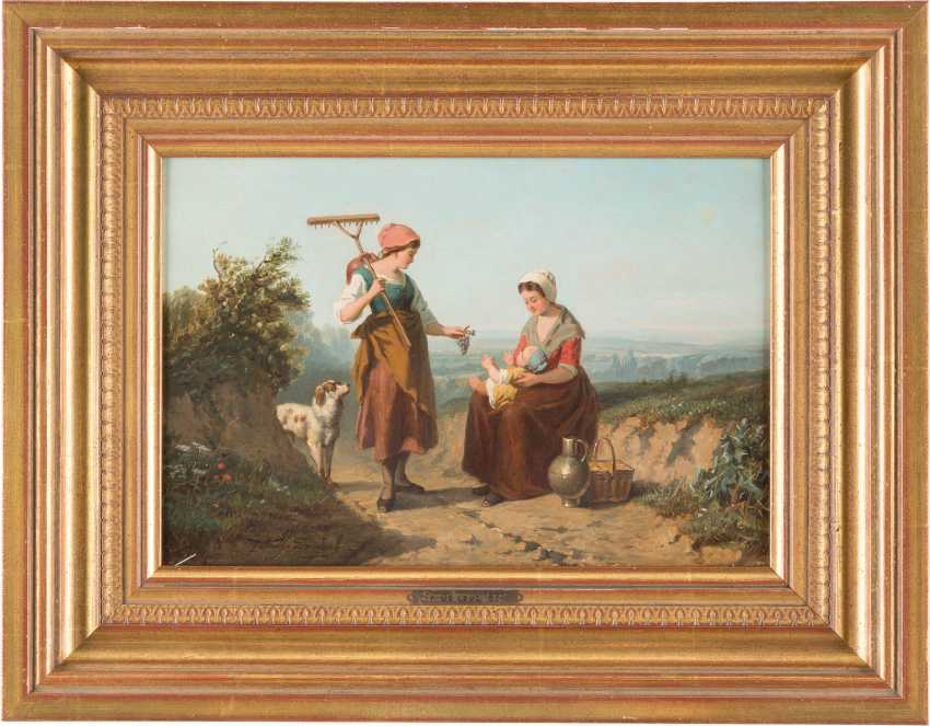 Italian peasant women by the wayside - photo 2