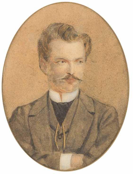 Portrait of 'Anna Von Droste' and portrait of a gentleman - photo 1