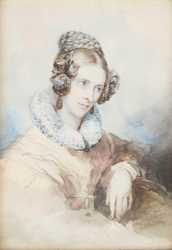 Portrait of 'Anna Von Droste' and portrait of a gentleman - photo 3