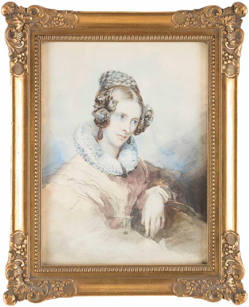 Portrait of 'Anna Von Droste' and portrait of a gentleman - photo 4