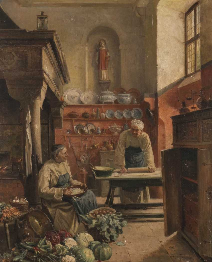 Two monks in the monastery kitchen - photo 1