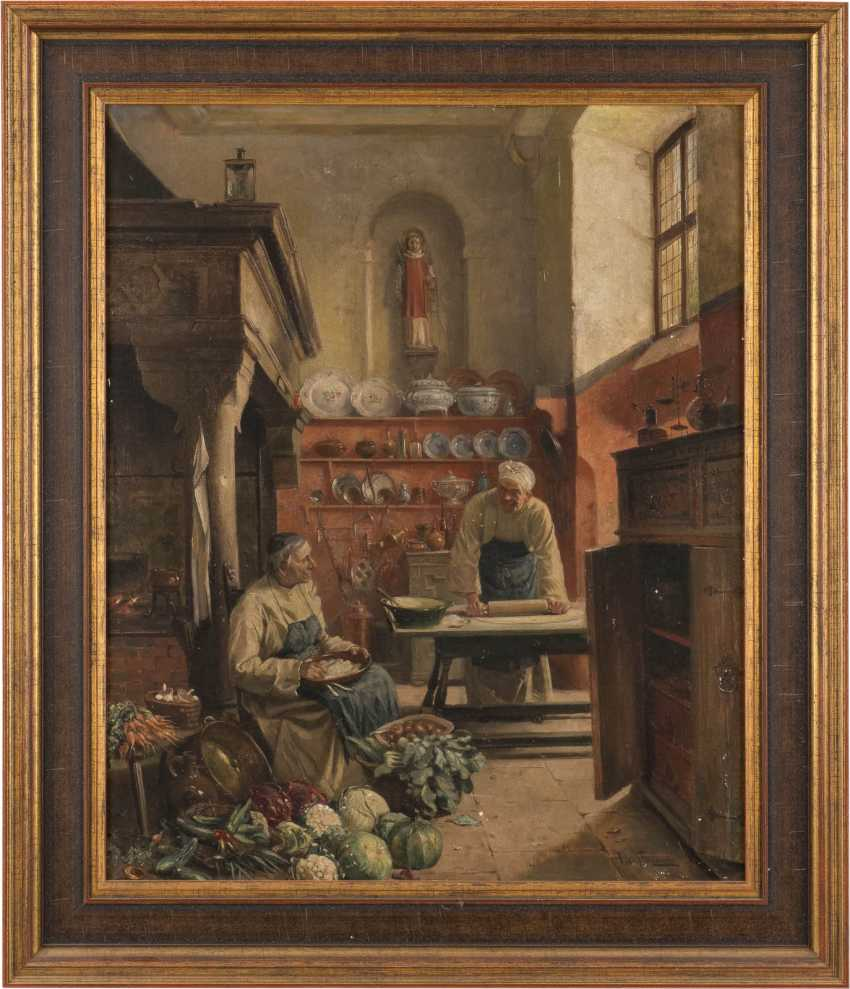 Two monks in the monastery kitchen - photo 2