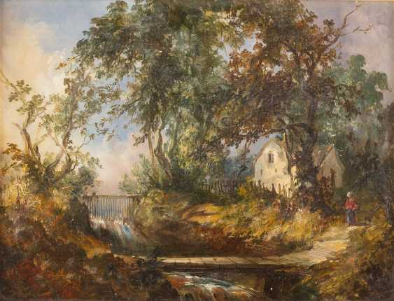 Landscape with a stream - photo 1