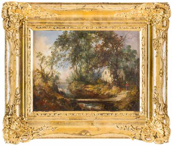 Landscape with a stream - photo 2