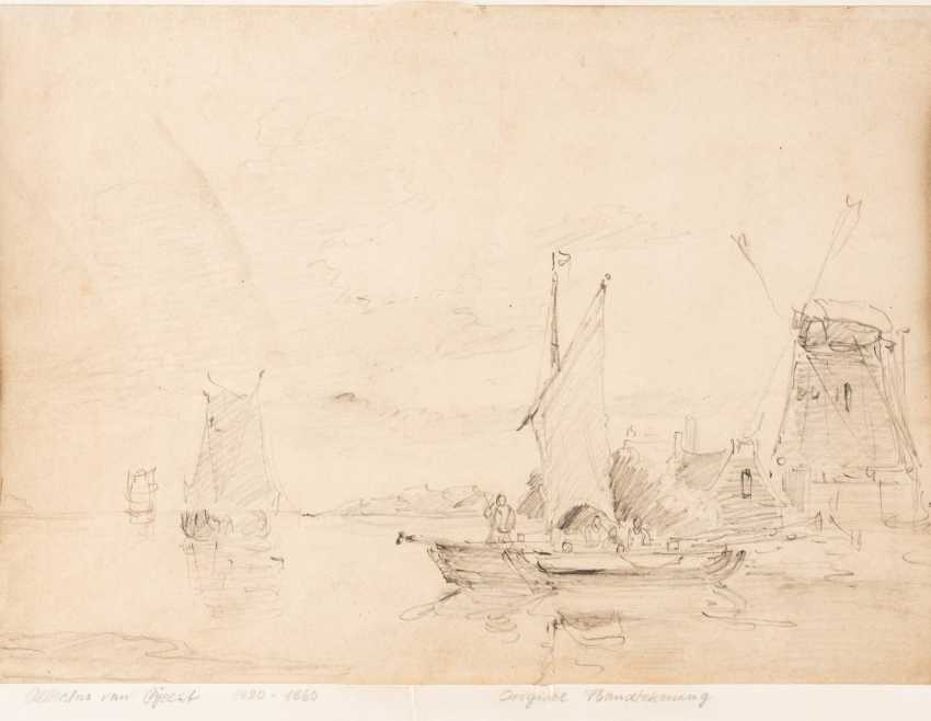 Two drawings with Dutch landscape motifs - photo 1