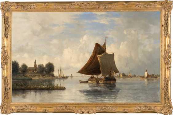 Dutch river landscape with sailing boats - photo 2