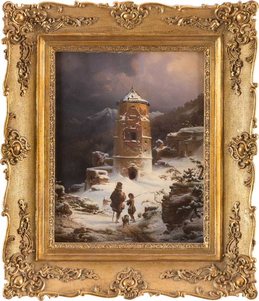 Winter landscape with ruined keep - photo 2
