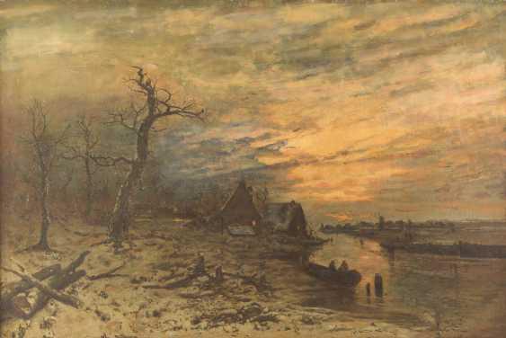 Dusk over winter landscape - photo 1