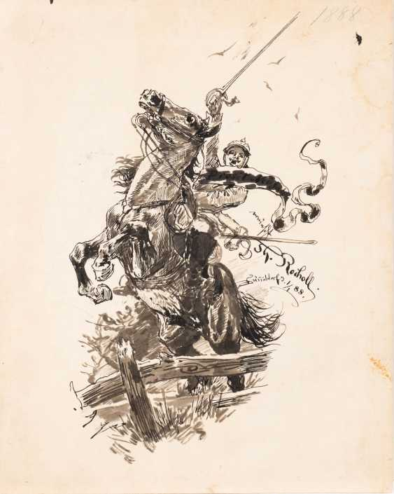 Cavalryman jumping - photo 1