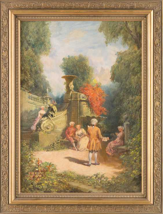 Pair of paintings: Society in the pleasure garden, serenade in the park - photo 2
