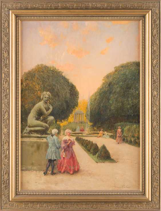 Pair of paintings: Society in the pleasure garden, serenade in the park - photo 4