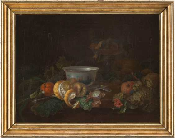 Still life with fruits, porcelain cup and bowl - photo 2