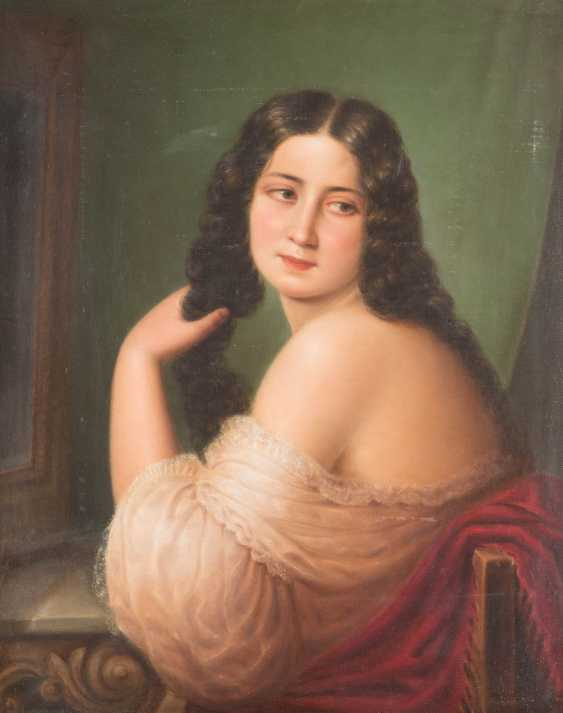 Lady in front of the mirror - photo 1