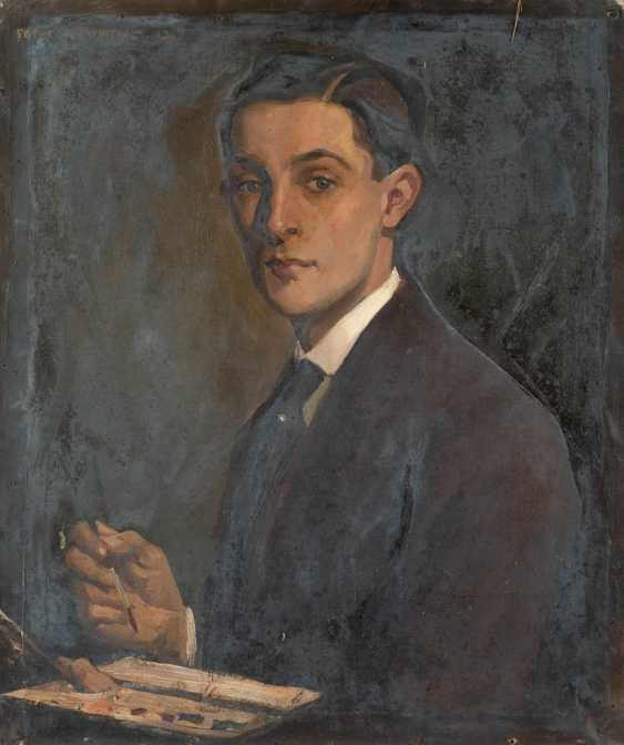 Self-portrait with artist's palette - photo 1