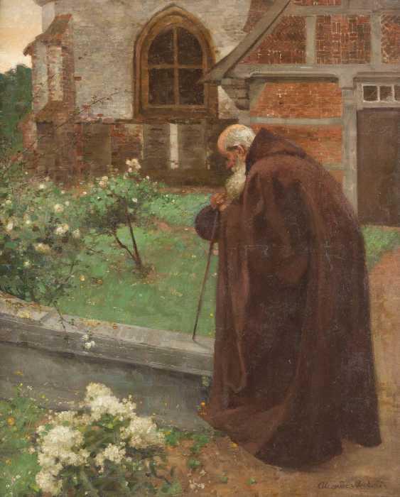 Monk in the monastery garden - photo 1