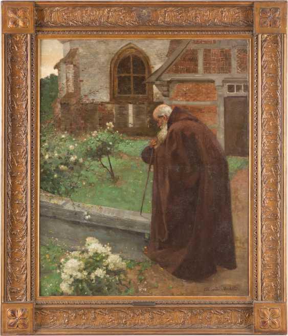 Monk in the monastery garden - photo 2