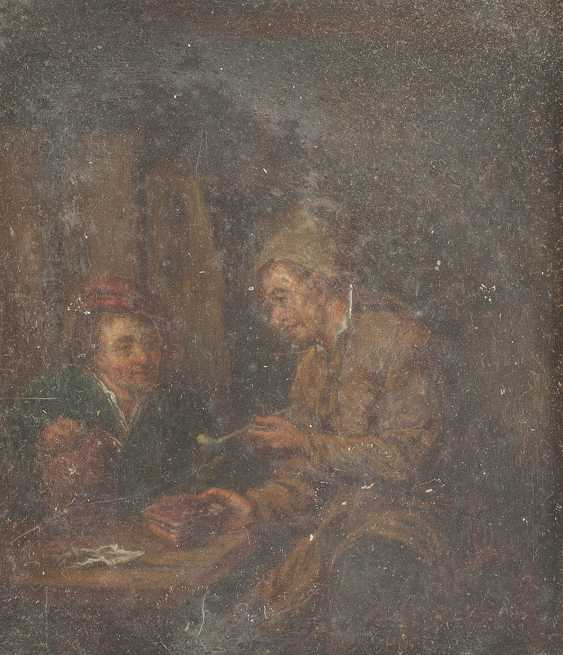 Mixed lot of paintings. Table company for two men (1); Chat at the window (2); Two pipe smokers (3) - photo 3