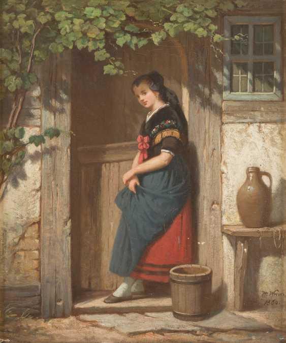 Girl under vines - photo 1