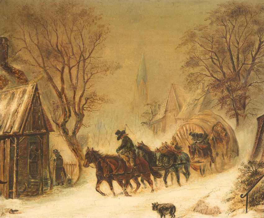 Wagon in the snowstorm - photo 1
