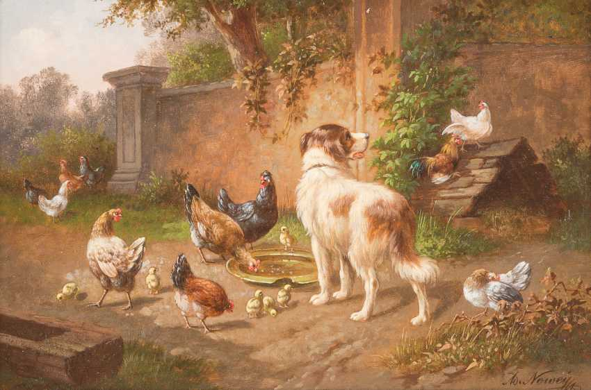 Dog Amidst Chickens - photo 1