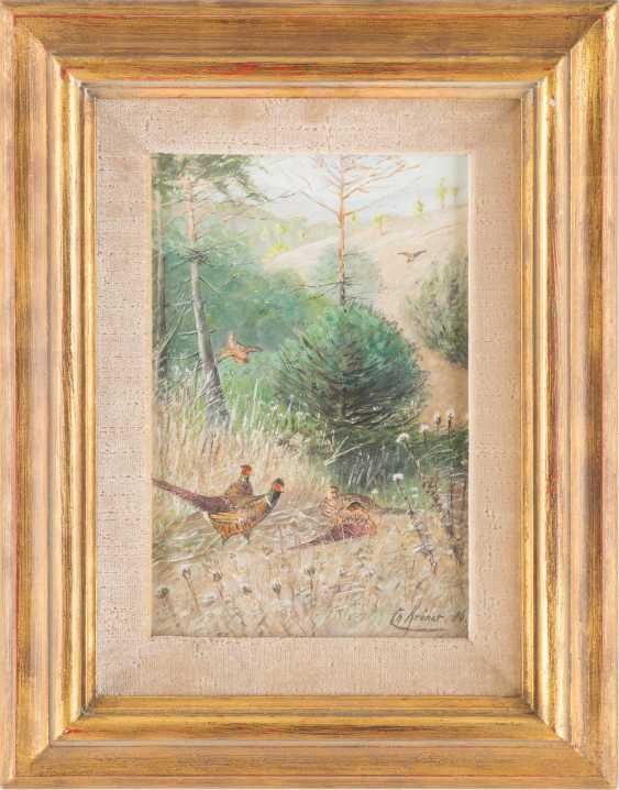 Landscape with pheasants - photo 2