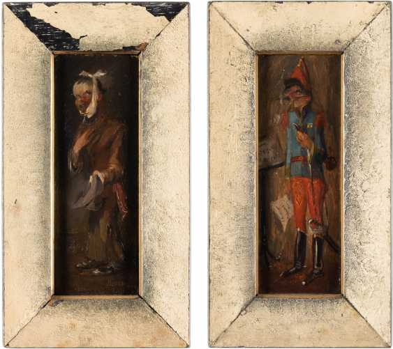 Pair of paintings: soldier and beggar - photo 2