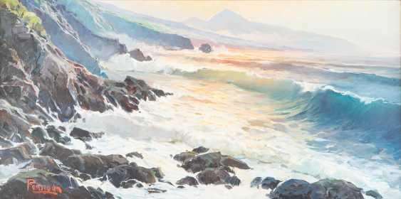 Rocky coast at sunrise - photo 1