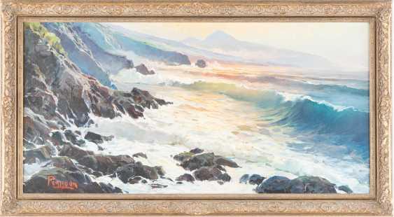 Rocky coast at sunrise - photo 2
