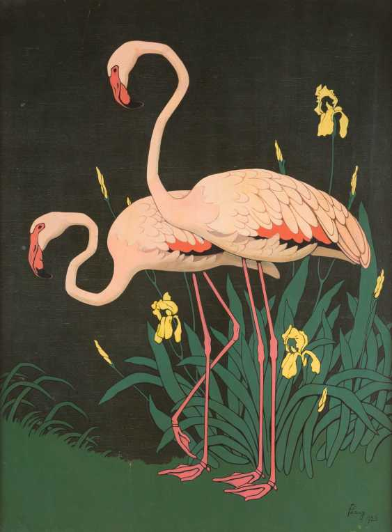 Flamingopaar Mit Iris - photo 1