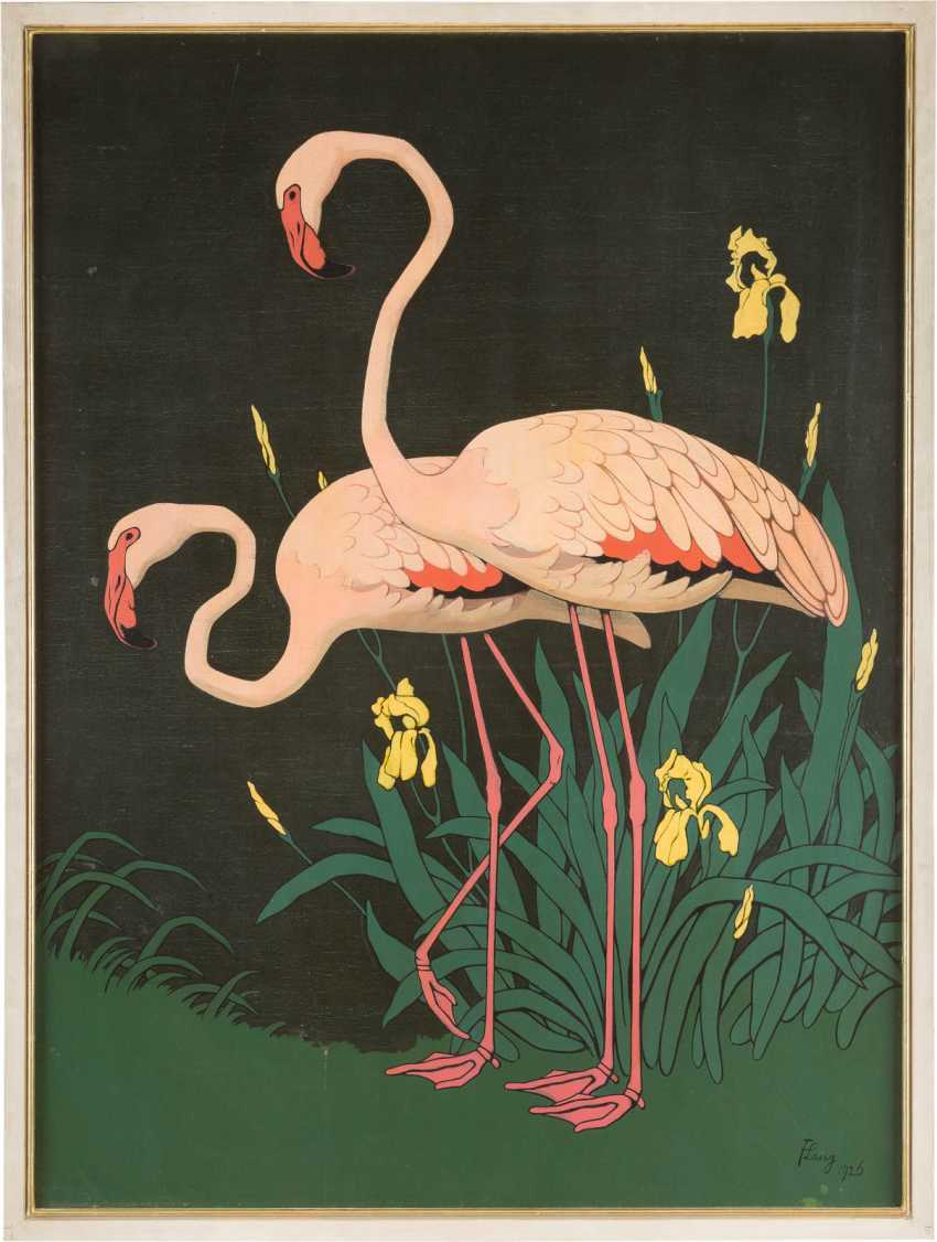 Flamingopaar Mit Iris - photo 2