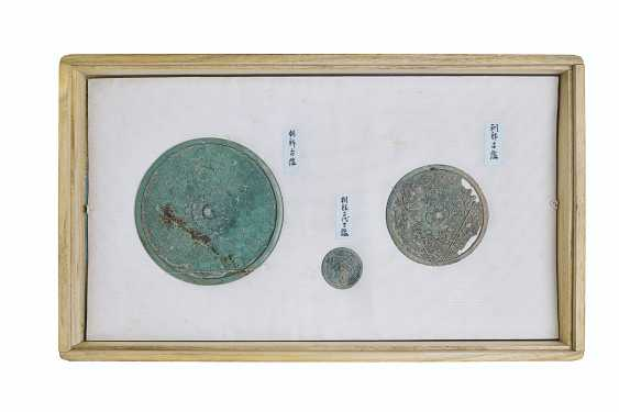 A GROUP OF BRONZE MIRRORS AND IMPLEMENTS - photo 2
