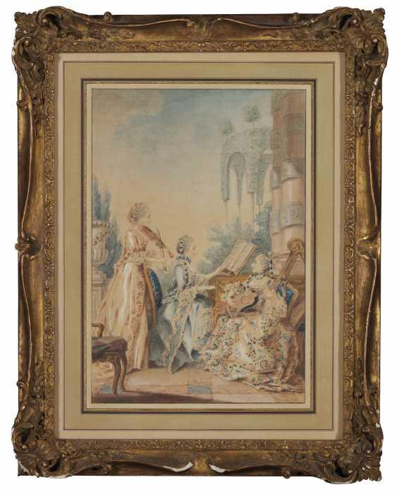 ATTRIBUÉ À LOUIS DE CARROGIS, DIT CARMONTELLE (PARIS 1717-18... - photo 1