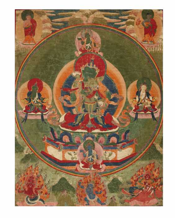 A SET OF FIVE PAINTINGS OF THE FIVE TANTRIC BUDDHAS - photo 2
