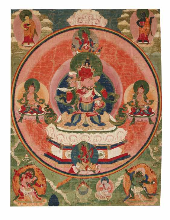 A SET OF FIVE PAINTINGS OF THE FIVE TANTRIC BUDDHAS - photo 3