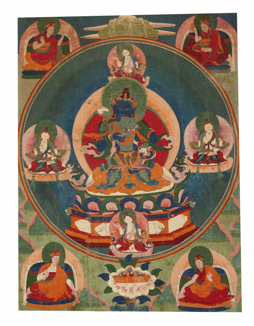 A SET OF FIVE PAINTINGS OF THE FIVE TANTRIC BUDDHAS - photo 4