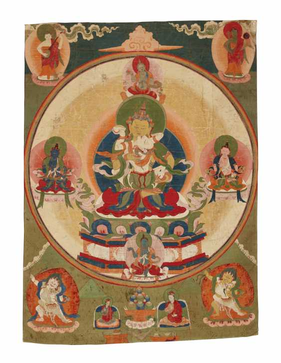 A SET OF FIVE PAINTINGS OF THE FIVE TANTRIC BUDDHAS - photo 5