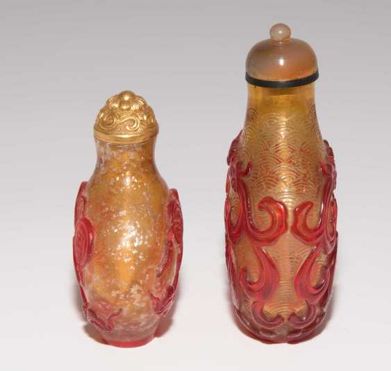 5 flashed glass snuff bottles - photo 8