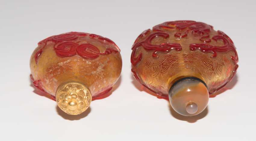 5 flashed glass snuff bottles - photo 11