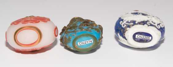 6 flashed glass snuff bottles - photo 6