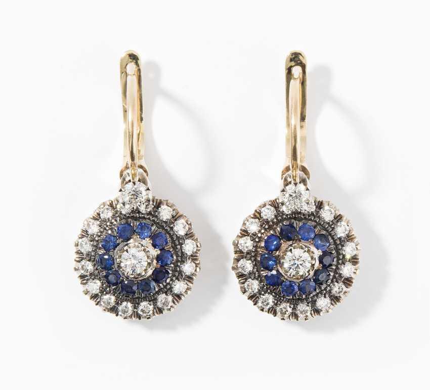 Sapphire and diamond earrings - photo 1