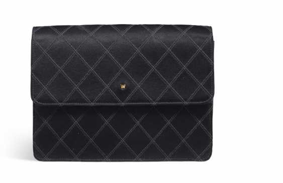 A BLACK SATIN CLUTCH - photo 1