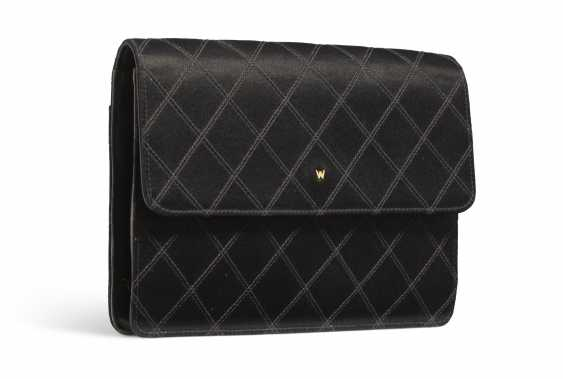 A BLACK SATIN CLUTCH - photo 2